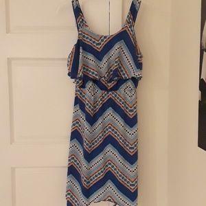 Sleeveless Dress with Geometric Pattern